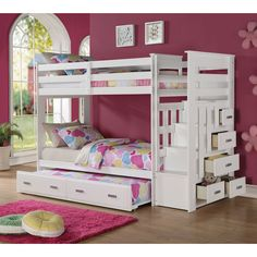 Find a wide selection of Kids Bunk Beds at Nebraska Furniture Mart. Shop with our low-price guarantee and find great deals on Kids Bunk Beds and more! Bunk Beds With Drawers, Bunk Beds With Storage, Bunk Beds With Stairs, Bed Storage, Storage Stairs, Bunk Bed With Trundle, Full Bunk Beds, Kids Bunk Beds, Loft Beds