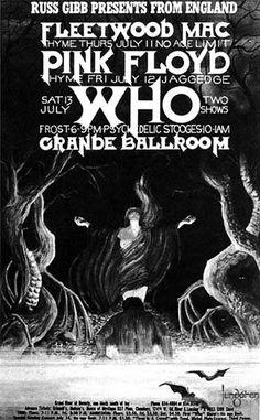 Fleetwood Mac, Pink Floyd, And The Who. Grande Ballroom Detroit Michigan