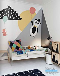 Playful painted wall