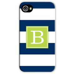 Awning Stripe Monogrammed iPhone 5/5S Case | Three Hip Chicks---Time for my new monogram!