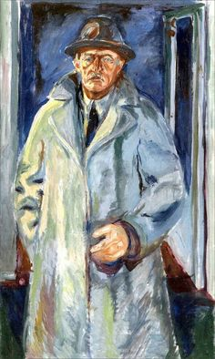 Edvard Munch · Self Portrait in Hat and Coat · 1923 · Unknown location