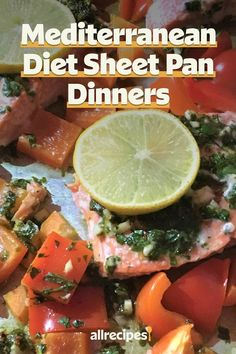 "Mediterranean Diet Sheet Pan Dinners | ""Make your Mediterranean diet meal planning easy with these delectable sheet pan dinners, which are all-in-one meals conveniently and quickly baked on a sheet pan."" #easy #easyrecipes #quickandeasy #easyrecipesideas #dinner #supper #sheetpandinner #easydinnerideas #sheetpansupper #easysupperideas Roasted Cod, Mediterranean Diet Meal Plan, Med Diet, Shrimp And Vegetables, Sheet Pan Suppers, Recipe Creator, Lentil Stew, Healthy Protein, Diet Meal Plans"