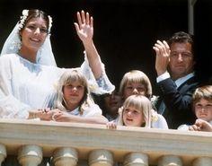 HSH Princess Caroline of Monaco & Phillipe Junot on their wedding day, 29 June 1978.