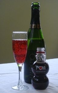 gotta try this....pomegranate prosecco mimosa