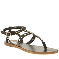 Schuh Black Prize Womens Sandals Take the best-dressed Prize this season, with these super stylish gladiator sandals from schuh. Crafted in black leather, the strappy upper forms a toe-post silhouette, adorned in gold stud embellishm http://www.MightGet.com/january-2017-13/schuh-black-prize-womens-sandals.asp