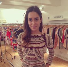 Gala Gonzalez from fashion blog Amlul popped in before fashion month...
