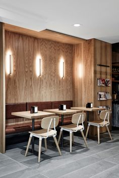 This is a fun and light hearted design that will both surprise and delight. Retail Interior, Restaurant Interior Design, Cafe Interior, Interior Exterior, Coffee Shop Design, Cafe Design, Commercial Design, Commercial Interiors, Coffee Tables