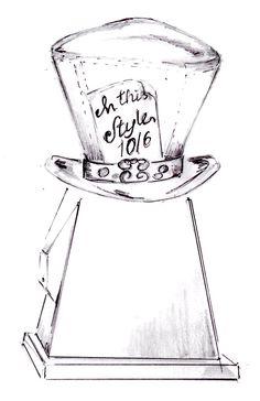 Mad Hatter Hat Sketch