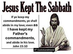 Jesus kept the Sabbath. Sabbath Rest, Sabbath Day, Bible Scriptures, Bible Quotes, Happy Sabbath Quotes, Fourth Commandment, Bible Truth, Torah, Word Of God