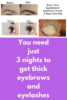 You need just 3 nights to get thick eyebrows and eyelashes This is a simple DIY Castor Oil For Face, Castor Oil Eyebrows, Makeup Jobs, Eyebrow Makeup, Eyebrow Serum, Makeup Eyebrows, Face Serum, Diy Makeup, Aloe Vera Face Mask