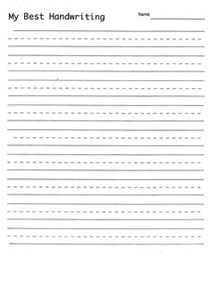 Handwriting Practice Worksheet For Ks1 Pupils Trace Over The Words