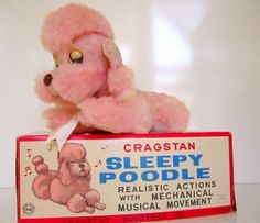 Vintage Cragstan Sleepy Pink Poodle Lullaby Musical Movement Wind Up Dog by nanascottagehouse on Etsy Vintage Dog, Vintage Pink, Poodles, 70s Toys, Retro Toys, Teddy Bear Dog, Up Dog, Pink Poodle, Pink Plastic