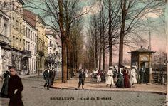 Old picture of Charleroi, Quai du Brabant, Belgium