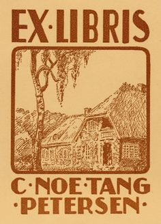 Ex libris by F. Aster for Læge C. Noe Tang Petersen (1939)