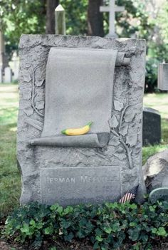 Herman Melville Woodlawn Cemetery Bronx, New York - Consider the subtleness of… Cemetery Monuments, Cemetery Statues, Cemetery Headstones, Old Cemeteries, Cemetery Art, Graveyards, Unusual Headstones, Woodlawn Cemetery, Gardens Of Stone