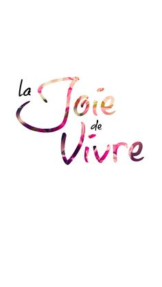 Preppy Original iPhone Wallpaper ★ La Joie de Vivre