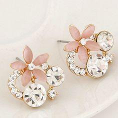 Europe Fashion Brand Earrings Fashion Cat Eye Jewelry Crystal Opal Earrings ER032