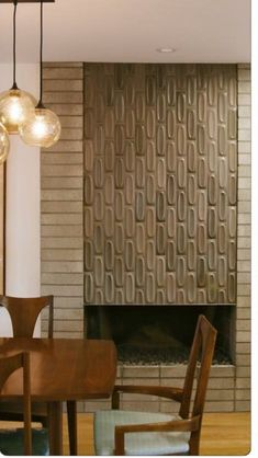 Fireplace | Raised and beautiful tile