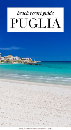 Puglia - Beach Resort Guide. Heading to Puglia (also known as Apulia) this year for some summer sun? Here's where to stay along the coast of this beautiful Italian region. Town or beach? Luxury or budget? Where are the best sandy beaches? This guide includes Otranto, Monopoli, Polignano a Mare, and the beach resorts of the Ionian coast. #puglia #apulia #italy #beach #travel #europe #mediterranean #tmtb Top Travel Destinations, Europe Travel Guide, Amazing Destinations, Italy Travel, Travel Guides, Travel Images, Travel Pics, Beach Travel, Places In Europe