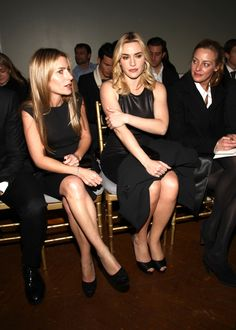 Kate Winslet at the St. John Fall 2012 Show during Mercedes-Benz Fashion Week in New York    Whatcha think about?
