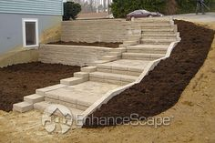 Outdoor stair ideas by EnhanceScape.com, via Flickr