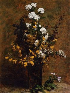 Henri Fantin-Latour ...1882 Broom and Other Spring Flowers in a Vase oil on canvas Private Collection