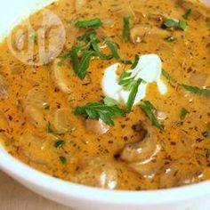 Photo de recette : Soupe hongroise aux champignons