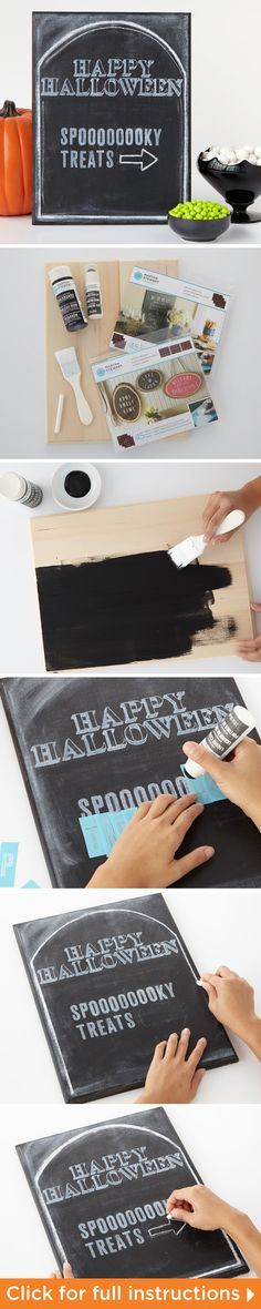 How to make the Halloween Tombstone Treat Sign from Martha Stewart #halloween #madaboutcolor #marthastewart #DIY #plaidcrafts