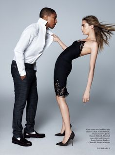 Snapshot: Pharrell Williams and Cara Delevingne by David Bailey for Vogue UK September 2013 David Bailey, Vogue Uk, Pharrell Williams, Cara Delevingne, Business Yoga, Camille Over The Rainbow, Hollywood, Glamour, Beauty
