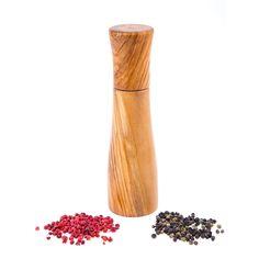 Olive Wood Salt - Pepper mill or Pepper Grinder, Modern Style Greek Olives, Dishwasher Soap, Handmade Kitchens, Table Accessories, Pepper Grinder, Types Of Wood, Salt And Pepper, Decorative Items, Utensils