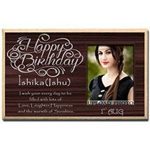 Personalized Photo Plaque For Birthday