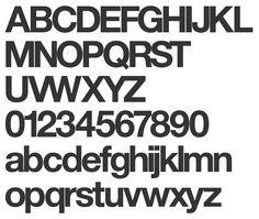 Resultado de imagen de alphabet helvetica