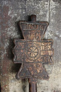 Carved Wooden Bread Stamp from Maramures - Folk Art of Europe & Rest of World Wooden Crosses, Wooden Art, Chip Carving, Wood Carving, Medieval Jewelry, Russian Orthodox, Ancient Artifacts, Made Of Wood, Ancient History