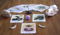 THREE CARD DRAW from The Wooden Tarot Major by skullgardenshop, $5.00