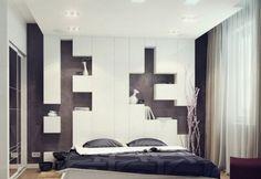 Дизайн спальни 10 кв. м. - фото современного интерьера