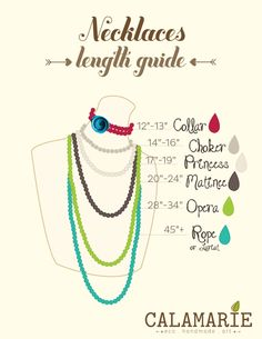 Handy calamarie necklace length guide