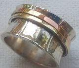 #Ring silver gold 3  tones