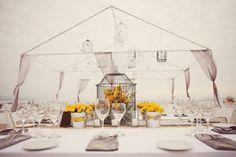 Como decorar bodas con amarillo y gris para exterior y vintage