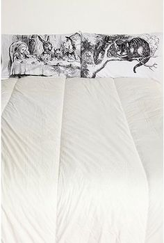"Wonderland, bed sheets.  ~  ""Everything's got a moral, if only you can find it.""  Lewis Carroll"