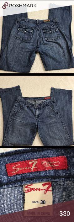 Women's Seven7 jeans size 30 Good condition Seven7 Jeans Straight Leg