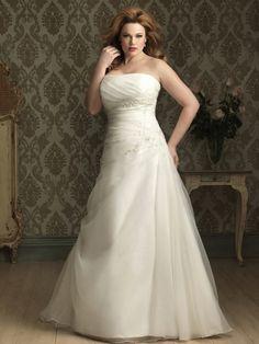 vestido de novia organza color hueso