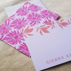 Some new Susy Jack #custom #stationery we're working on in #floral #patterns!