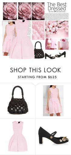 """Simone Rocha Cloqué mini dress"" by bodangela ❤ liked on Polyvore featuring Simone Rocha and Dolce&Gabbana"