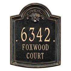 Whitehall Elderwood Standard Personalized Aluminum Address Plaque