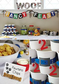 Playful Puppy and Kitten Birthday Party // Hostess with the Mostess® Dog Themed Food, Dog Themed Parties, Puppy Birthday Parties, Puppy Party, Cat Birthday, Animal Birthday, Birthday Party Themes, Birthday Ideas, Birthday Bash
