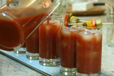 Bloody Mary w/bacon-infused vodka (and a bunch of other awesome bacony things)