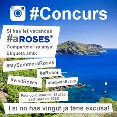 Has estat aquest estiu #aRoses? Volem que ens expliquis com de bé t'ho has passat!! Puja les teves fotos a #Instagram amb els hashtags #MySummerARoses, #aRoses, #VisitRoses, #inCostaBrava.  Tens fins al 30 de setembre!!