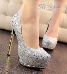 Sexy Shiny Rhinestone Metal Stiletto Heel Prom-Evening Shoes