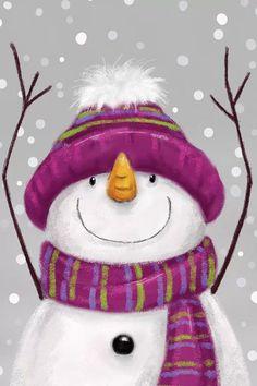 Snowman Images, Snowmen Pictures, Christmas Pictures, Cute Snowman, Christmas Snowman, Christmas Crafts, Canvas Artwork, Canvas Art Prints, Snowman