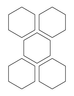 3 inch circle pattern use the printable outline for for 1 5 inch hexagon template